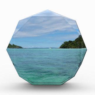 tropical sea acrylic award