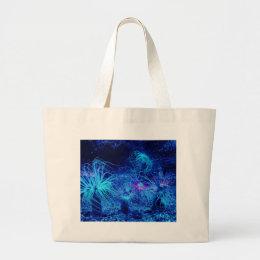 Tropical Sea Anemone Large Tote Bag