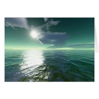 Tropical Sea (card) Greeting Card