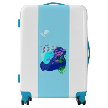 Beach Themed Tropical sea collection Medium Luggage Suitcase