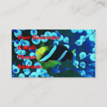 Tropical Sea Fish In Glowing Coral Business Card