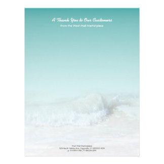 Tropical Sea Green Ocean Waves Business Stationery