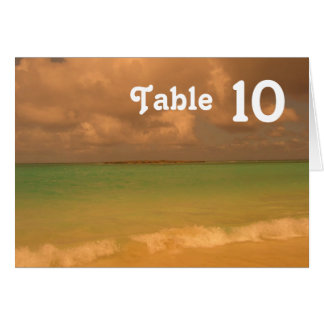 Tropical Sea Table Card