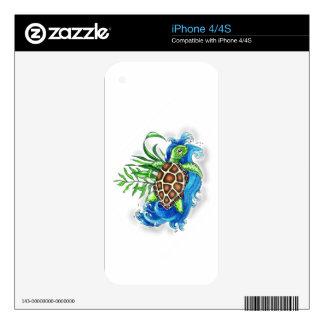 Tropical Sea Turtles iPhone 4 Skin
