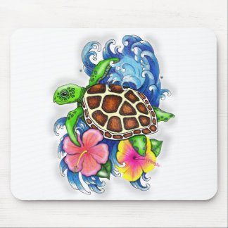 Tropical Sea Turtles Mouse Pad