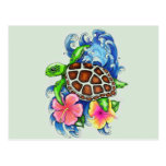 Tropical Sea Turtles Post Card