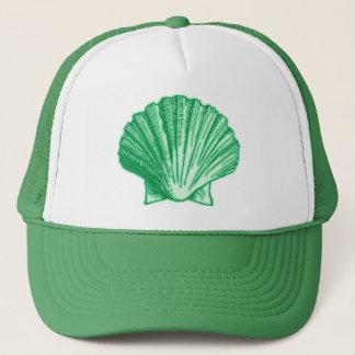 Tropical Seafoam Green Sea Shell Trucker Hat