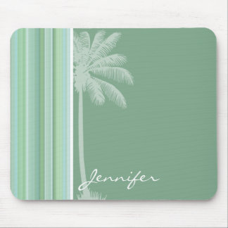 Tropical Seafoam, Sage Green, & Baby Blue Mouse Pad