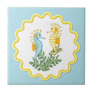 Tropical Seahorse Fantasy Ceramic Tile