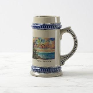 Tropical Seascape Art Stein Mug