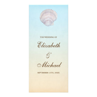 Tropical Seashell Beach Wedding Program