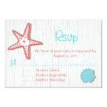 "Tropical Seashell Wedding RSVP cards 3.5"" X 5"" Invitation Card"