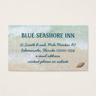 Tropical Seashore Business Advertising Business Card