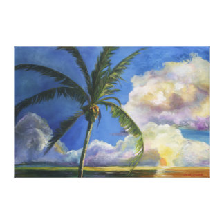 Tropical Seaside Sunset Canvas Print