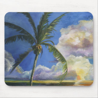 Tropical Seaside Sunset Mouse Pad
