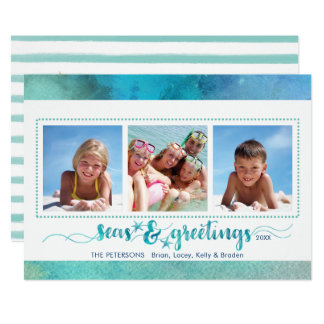 Tropical SEAson's Greetings, Handwrite Option Back Card