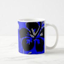 flourish, design, blue, tropical, mug, mugs, hibiscus, flower, flowers, floral, art, nature, gift, gifts, Mug with custom graphic design