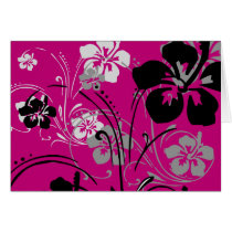 flourish, design, pink, tropical, card, hibiscus, flower, flowers, floral, nature, art, Card with custom graphic design
