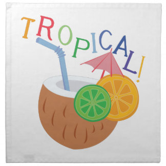 Tropical Servilleta Imprimida