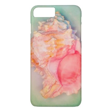 Beach Themed Tropical Shell iPhone 7 Plus Case