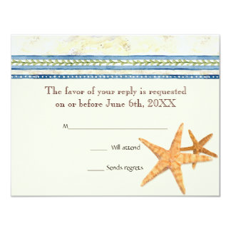Tropical Shell Paradise  - RSVP Response Cards Personalized Announcements