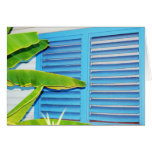 Tropical Shutters Greeting Card