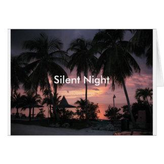 Tropical Silent Night Christmas Card