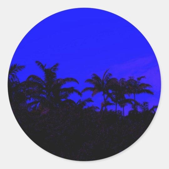 Tropical Silhouette Classic Round Sticker