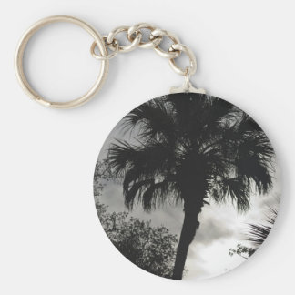 Tropical Silhouette Keychain