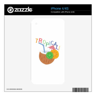 Tropical Decal For The iPhone 4