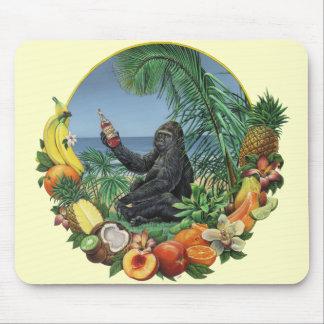 Tropical Slam! Ape in the tropics Original Artwork Mouse Pad