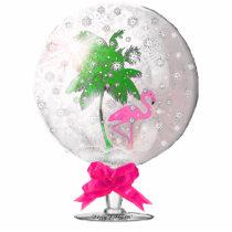 Tropical Snow globe Ornament