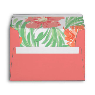 Tropical Soiree Flamingo Pink Envelope