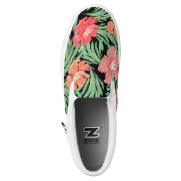 Beach Themed Tropical Soiree Watercolor Floral Pattern Slip-On Sneakers
