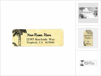 Tropical South Wind Vintage Beach Etching Products