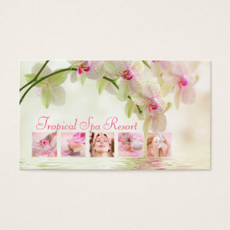 Tropical Spa Resort Creamy Business Card