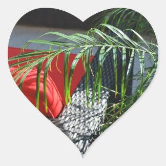 Tropical Spa Seating, Calm Zen Relax Heart Sticker