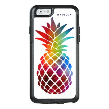 Tropical Space Pineapple Modern Colorful Otterbox Iphone 6/6s Case by girlygirlgraphics at Zazzle