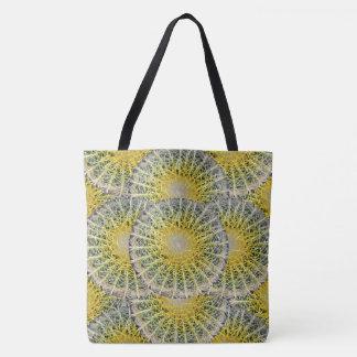 Tropical Sphere Cacti Pattern Tote Bag