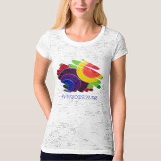 Tropical Spirals Ladies Burnout Fitted T-Shirt