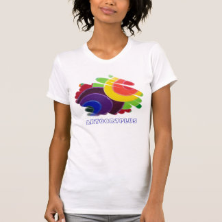 Tropical Spirals Ladies Spaghetti Fitted Top T Shirt