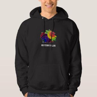 Tropical Spirals Men Dark Hoodie Sweatshirt