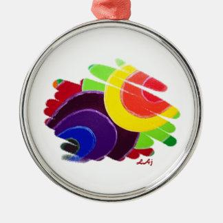 Tropical Spirals Premium Round Ornament