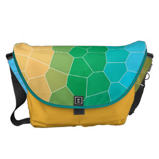 Tropical stained glass courier bag