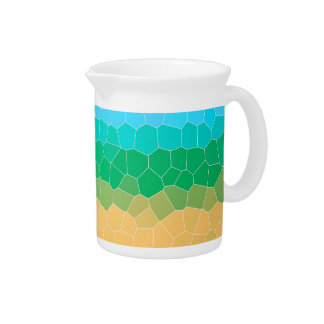 Tropical stained glass drink pitchers