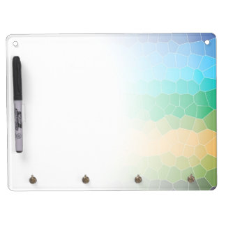 Tropical stained glass dry erase whiteboards