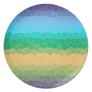 Tropical stained glass party plate