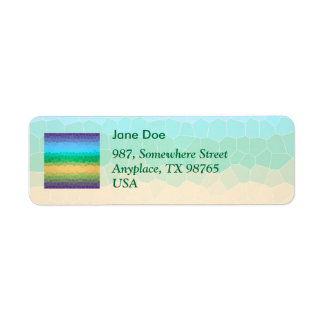 Tropical stained glass return address label