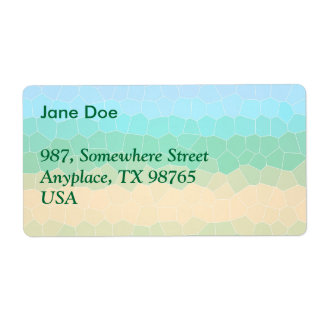 Tropical stained glass shipping label
