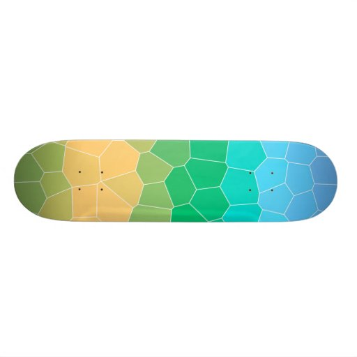 Tropical stained glass skate board decks